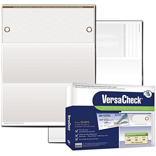 VersaCheck UV Secure Business Check Refills: Form #1000 Business Voucher - Tan - Elite - 250 Sheets