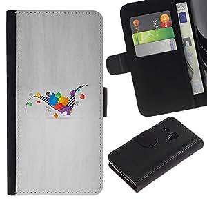 """A-type (Dinosaurio Geometría"""") Colorida Impresión Funda Cuero Monedero Caja Bolsa Cubierta Caja Piel Card Slots ParaSamsung Galaxy S3 MINI i8190 (NOT S3)"""