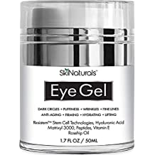 Eye Gel for Dark Circles, Puffiness, Wrinkles, Fine Lines and Bags - The Most Effective Anti-Aging Eye Cream for Under and Around Eyes with Hyaluronic Acid and Rosehip Oil - 1.7 fl. oz