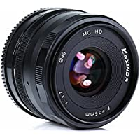 KAXINDA 35mm F/1.7 Large Aperture Manual Prime Fixed Lens APS-C for Digital Mirrorless Cameras Black (NIKON N1)