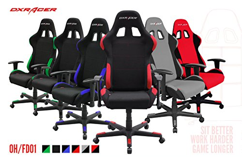 51QVDJZDuLL - DXRacer-FD01-Racing-Bucket-Seat-Office-Chair-Gaming-Ergonomic-with-Lumbar-Support