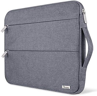 Voova 15 15.6 14 Pulgadas Funda para Portátil, Impermeable con Interior Suave, Compatible con MacBook Pro,Surface Laptop 3 15,XPS 15, Chromebook 14/15 con Asa y Bolsillos Laterales,(Gris): Amazon.es: Informática