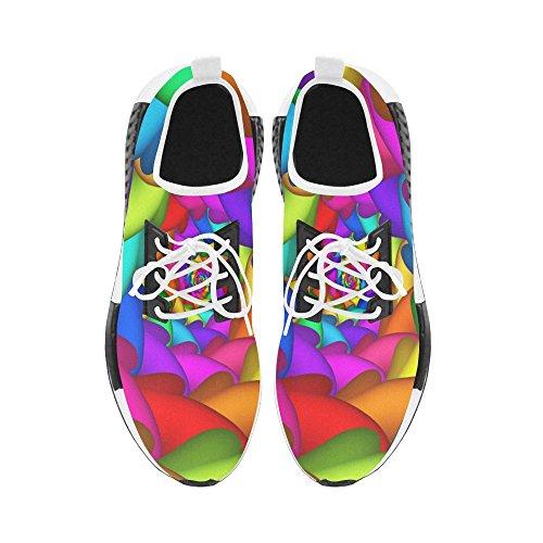 Artsadd Psychedelic Rainbow Spiral Draco Bonuce Running Mens Shoes