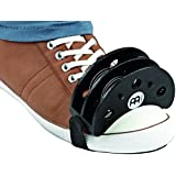 Meinl Foot Tambourine with Steel Jingles-for Cajon Players, Guitarists, and Singer-Songwriters, 2-Year Warranty, (FJS2S-BK)