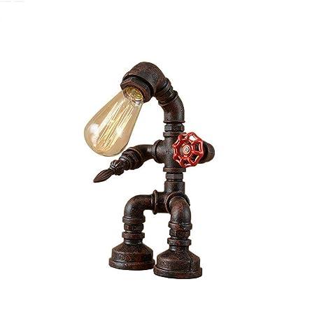 GW WG Lámpara de Mesa - Lámpara de Mesa Arte de Hierro Industrial ...