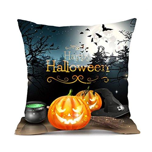 [Soft Non-Toxic Environment Friendly Cartoon Happy Halloween Pillow Cushion Cover Cases With Hidden Zipper Closure 18