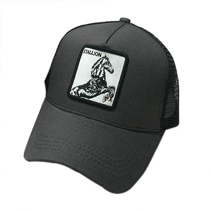 JUNGEN Gorra de béisbol Unisex Gorra de Beisbol Bordada de Animales con Gallo delfín Caballo Gorra