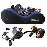 Moonight Magic Cushion Ramp,Portable Backrest,Body Pillow,Inflatable Multi-functional PillowFurniture (Triangle Pillow + Pump + Eye mask) (Sofa&Electric Air Pump)