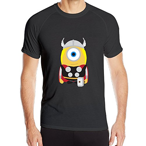 PTR Men's Breathable MINION THOR HERO CAST Sports Short Sleeve Size M - Michael Card Balance Gift