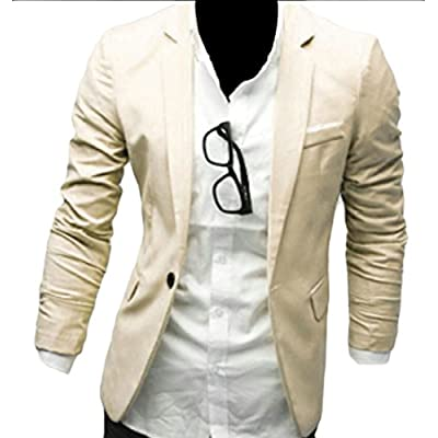 Cheap Nanquan-men clothes NQ Men's Casual One Button Long Sleeve Suits Blazer Jackets Outwear for cheap