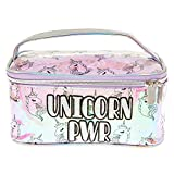 Claire's Girl's UNICORN PWR Holographic Cosmetics Bag with Handle