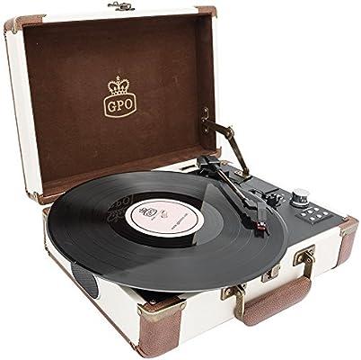 jisam trade Gpo Embajador Bluetooth Lp tocadiscos con batería ...