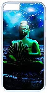 Buddha Statue Digital Art Case for iphone 6 4.7 PC Material White