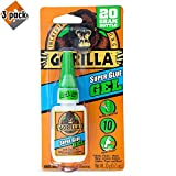 Gorilla Super Glue Gel, 20 Gram, Clear - 3 Pack