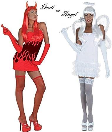 Halloween Bambino #Angel//DEVIL Guanti 2 Colori Costume Accessorio