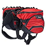 dog pack vest - Pettom Dog Saddle Backpack 2 in 1 Saddblebag&Vest Harness with Waterproof for Backpacking, Hiking, Travel, suit for Small, Medium & Large Dogs