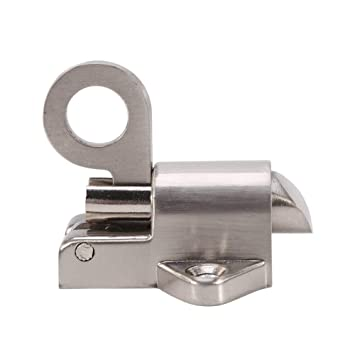 Bloqueo de aleación de zinc de tirón de seguridad anillo de resorte rebotar, perno de la puerta para la ventana cobertizo puerta dormitorio de tocador: ...