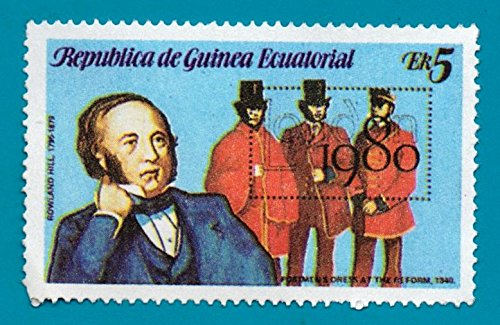 Equatorial Guinea Postage Stamp Sir Rolland Hill 5 (Used)