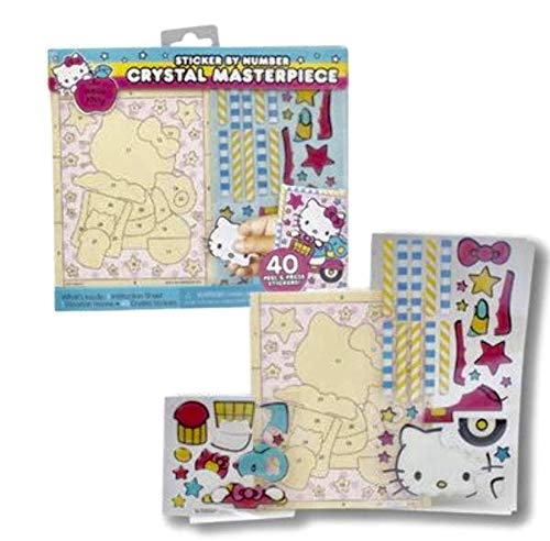 Hello Kitty Wooden Frame to Create Crystal Masterpiece with Sparkle Stickers(40 Pieces)