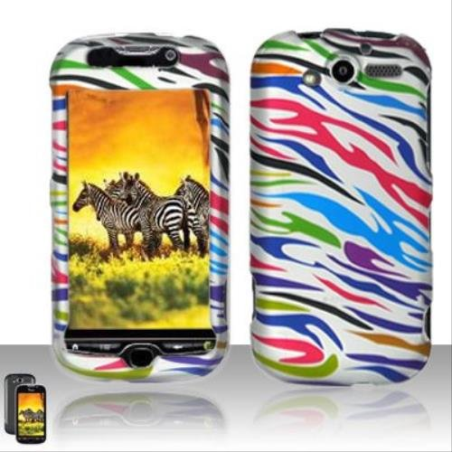 (Rubberized Colorful Zebra Design for HTC HTC myTouch 2010 4G)