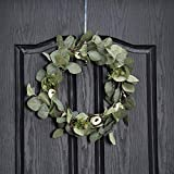 QUNWREATH Handmade 14 inch Leaf Series Wreath,Rose Bud and Leaf Wreath,Fall Wreath,Wreath for Front Door,Rustic Wreath,Farmhouse Wreath,Grapevine Wreath,Light up Wreath,Everyday Wreath,QUNW06