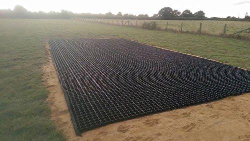51QVGNaKkJL - Grid grass ground and drive stabilisation reinforcement 2M² Retail Pack Black
