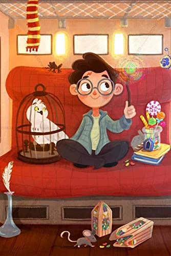 Postere Little Harry Potter First Time on The Hogwarts Express Magic,  Fanart Film Series, Fantasy/Fiction Cartoonists Style Poster (Paper, 12 x  18