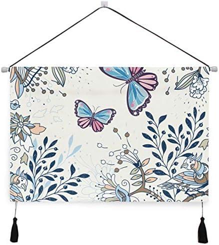 かわいい蝶ぶら下げ絵画 壁アート 吊りキャンバス 印刷 絵画 アートワーク 写真 ホーム用