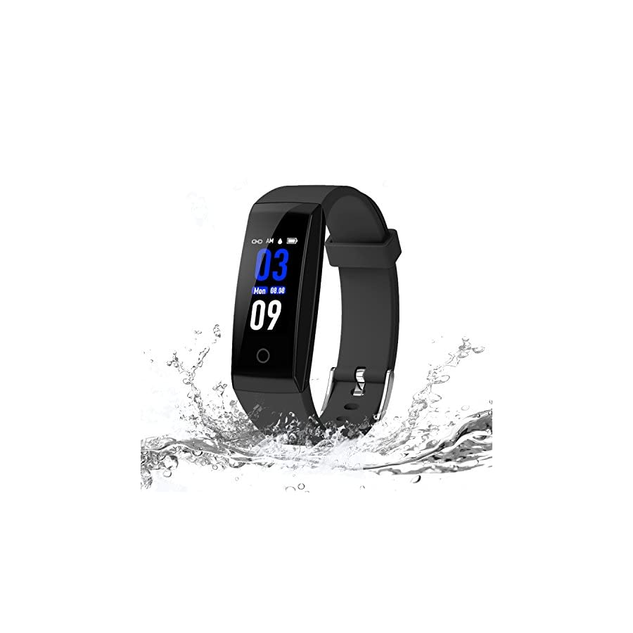 DoSmarter Fitness Tracker, Color Screen Activity Health Tracker Heart Rate Blood Pressure Monitor, Waterproof Smart Pedometer Watch Band Step Calories Counter Kids Woman Man