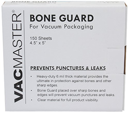 Price comparison product image VacMaster Vacuum Packaging Bone Guard Sheets, 4.5-Inch by 5-Inch, 150 Sheets
