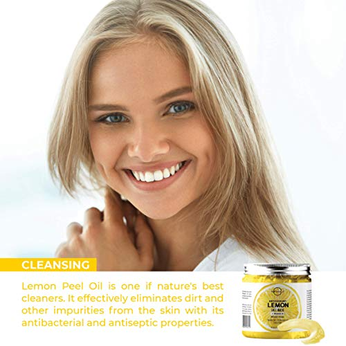 O Naturals Deep Cleansing Lemon & Vitamin B Gel Face Mask. Antioxidant Fights Acne, Pore Cleansing, Anti-Aging, Oil Control & Moisturizing. Hyaluronic Acid, Turmeric & Apple Extract Neem Oil Vegan 8oz