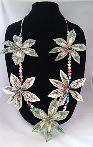 The Lei Company - ''Supernova'' Money Lei, 100-Dollar Value, Constructed of (5) Twenty Dollar Bills by The Lei Company