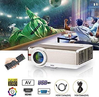 LED LCD Home Proyector Exterior 5000 Lúmenes WXGA HD 1080p Home ...