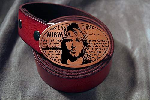 Nirvana KURT COBAIN Grunge Rock Etched Metal Belt Buckle ()