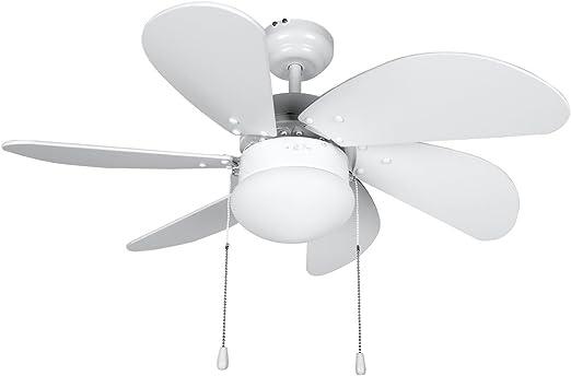 Orbegozo CP 15076 B - Ventilador de techo con luz, 6 aspas de ...
