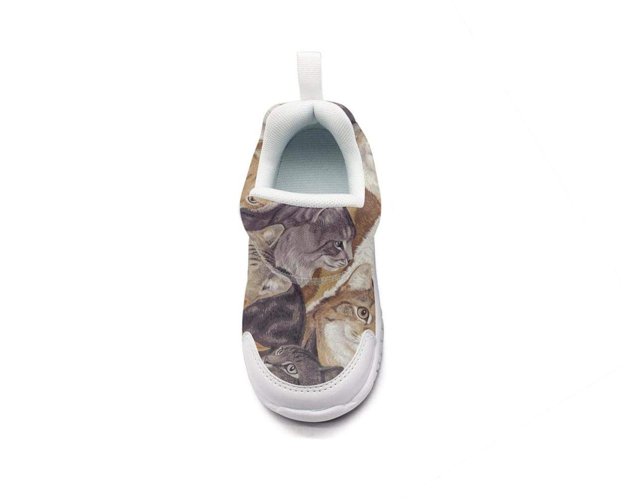 ONEYUAN Children Packed cats-01 Kid Casual Lightweight Sport Shoes Sneakers Walking Athletic Shoes