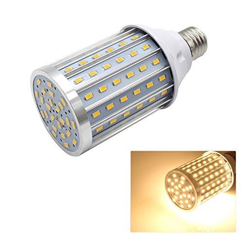 Mininono High Power LED Bulb 25W Aluminum High Power Corn Light Bulb, 108LEDs 200W Halogen Bulbs Replacement, Warm White 3000K Medium Edison E26/E27 Base Super Bright LED Lamp by Mininono (Image #2)