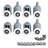 4-Pairs Shower Door Rollers 25mm Sliding Tub Shower door Rollers Replacement Rollers Runner Wheels