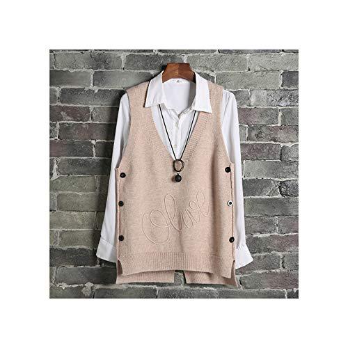 xsacuikj Vest Waistcoat Women Side Buttons Casual Knitted Sweater Vest Sleeveless Female Short Sleeveless Pullover Plus Size
