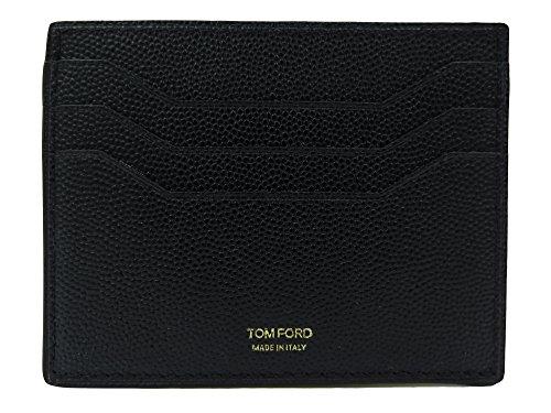 Tom Ford Black Pebbled Leather Card - Wallets For Ford Men Tom