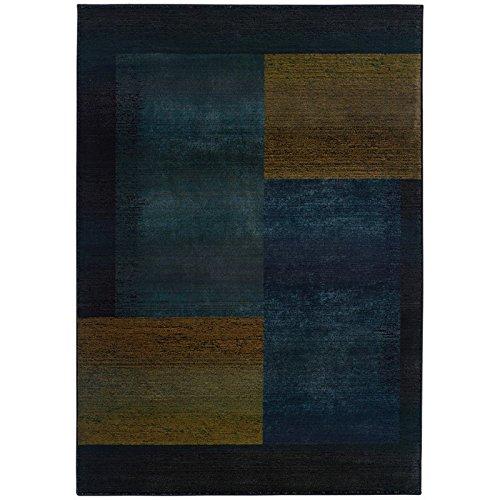Oriental Weavers Kharma-II 1092L Area Rug, 2' x 3', Blue