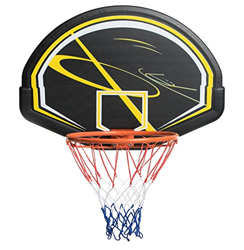 """Wollowo Full Size 18/"""" Wall Mounted Hanging Basketball Ring Hoop Net Strong /& Sturdy Fixings Included"""