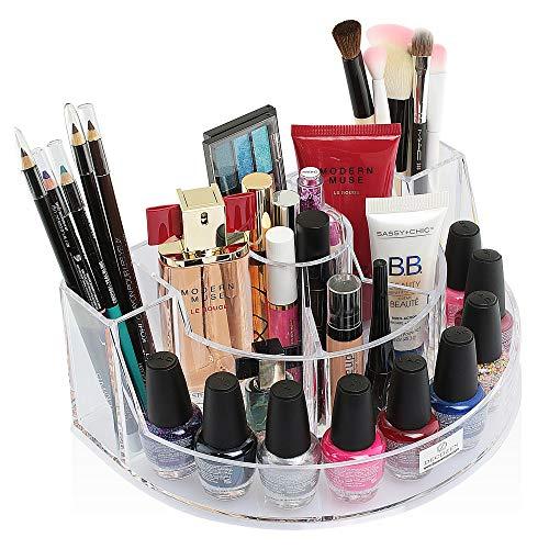 Decozen Makeup Organizer Storage for Make up Brushes Nail Polish Mascara Eyeliner Lipstick Perfumes Lipliner Lipgloss Foundation Eyeshadow Jewelry etc ()