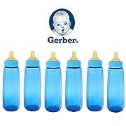6 Gerber Baby Bottle First Essentials 9 Oz Leak Proof Baby Blue Feeder BPA Free