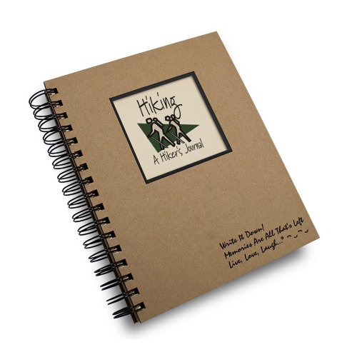 Hiking, A Hiker's Journal - Kraft Hard Cover, prompts on every page, recycled paper - 10 Hiking Tips: Keeping A Healthy New Year's Resolution