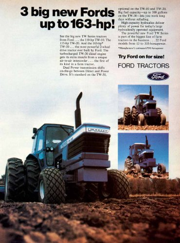 Review 1980 Ad Ford Tractors