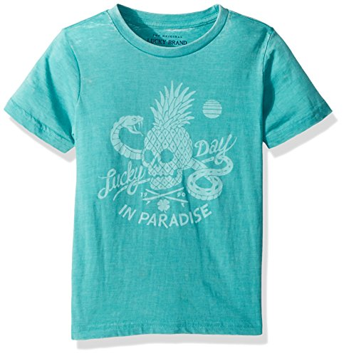 1b5031d47467 Lucky Brand Big Boys' Short Sleeve Graphic Tee Shirt, Baltic Paradise,  Large (