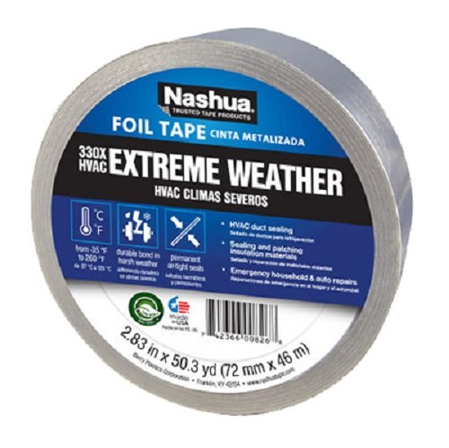 (10) rolls Berry / Nashua # 330 1087665 2.83'' x 50 YD, Silver, Extreme Weather HVAC Foil Tape by Nashua