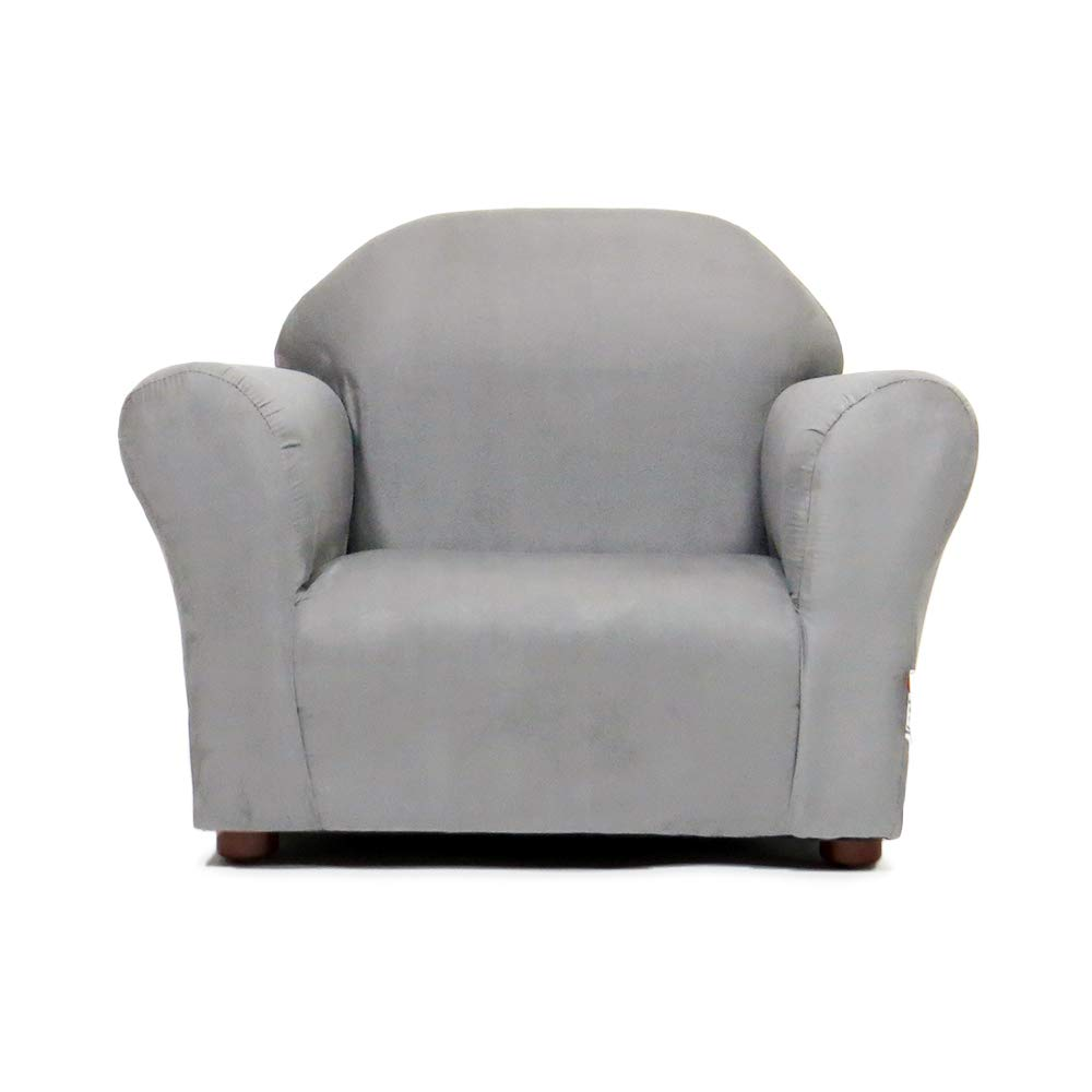 Keet Roundy Childrens Chair Microsuede Charcoal