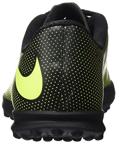 Nike Bravata II TF, Botas de Fútbol Unisex Niños Negro (Black / Volt)